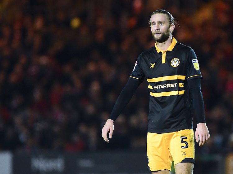Newport County's Fraser Franks<br /> <br /> Photographer Andrew Vaughan/CameraSport<br /> <br /> The EFL Sky Bet League Two - Lincoln City v Newport County - Saturday 22nd December 201 - Sincil Bank - Lincoln<br /> <br /> World Copyright © 2018 CameraSport. All rights reserved. 43 Linden Ave. Countesthorpe. Leicester. England. LE8 5PG - Tel: +44 (0) 116 277 4147 - admin@camerasport.com - www.camerasport.com