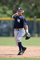 New York Yankees shortstop Diego Castillo (48) during an Instructional League game against the Pittsburgh Pirates on September 18, 2014 at the Pirate City in Bradenton, Florida.  (Mike Janes/Four Seam Images)
