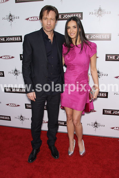 **ALL ROUND PICTURES FROM SOLARPIX.COM**.**SYNDICATION RIGHTS FOR UK, AUSTRALIA, DENMARK, PORTUGAL, S. AFRICA, SPAIN & DUBAI (U.A.E) & ASIA (EXCLUDING JAPAN) ONLY**.The Joneses Los Angeles Premiere - Arrivals, Arclight Hollywood, CA, USA, 8th April 2010.This pic: Demi Moore and David Duchovny.JOB REF: 11057    PHZ hatcher    DATE: 08_o4_2010.**MUST CREDIT SOLARPIX.COM OR DOUBLE FEE WILL BE CHARGED**.**MUST NOTIFY SOLARPIX OF ONLINE USAGE**.**CALL US ON: +34 952 811 768 or LOW RATE FROM UK 0844 617 7637**