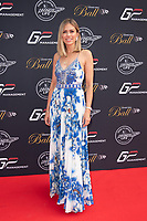 Nicki Shields at the Grand Prix Ball at the Hurlingham Club, London on July 4th 2018<br /> CAP/ROS<br /> &copy;ROS/Capital Pictures