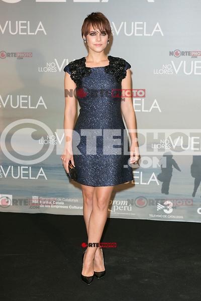 Aura Garrido attends Claudia&acute;s Llosa &quot;No Llores Vuela&quot; movie premiere at Callao Cinema, Madrid,  Spain. January 21, 2015.(ALTERPHOTOS/)Carlos Dafonte) /NortePhoto<br /> NortePhoto.com