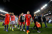 Action photo during the match Argentina vs Chile at Levis Stadium Copa America Centenario 2016. ---Foto  de accion durante el partido Argentina vs Chiler, En el Estadio de la Universidad de Phoenix, Partido Correspondiante al Grupo - D -  de la Copa America Centenario USA 2016, en la foto: Gary Medel<br /> --- 06/06/2016/MEXSPORT/PHOTOSPORT/ Andres Pina