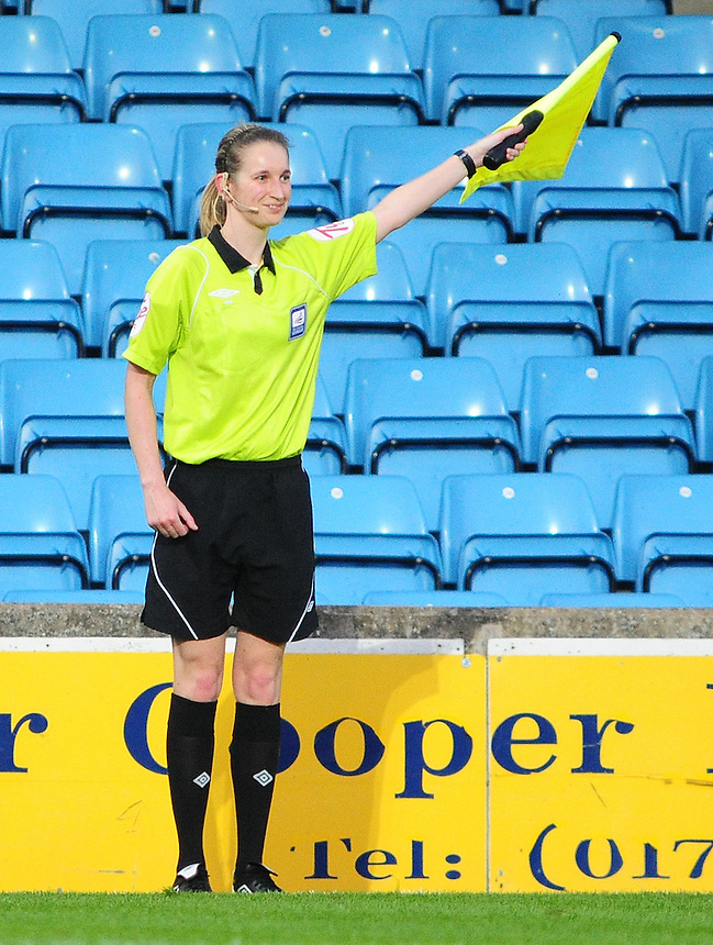 Assistant referee Helen Conley..Football Friendly - Scunthorpe United v Middlesbrough - Wednesday 8th August 2012 - Glanford Park - Scunthorpe..