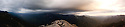 A panoramic view from Morro Rock in the Giant Sequoia National Park, California.