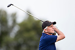 Michael Douglas tees off the 15th hole at the World Celebrity Pro-Am 2016 Mission Hills China Golf Tournament on 21 October 2016, in Haikou, China. Photo by Victor Fraile / Power Sport Images