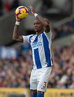 Brighton &amp; Hove Albion's Gaetan Bong<br /> <br /> Photographer David Horton/CameraSport<br /> <br /> The Premier League - Brighton and Hove Albion v Wolverhampton Wanderers - Saturday 27th October 2018 - The Amex Stadium - Brighton<br /> <br /> World Copyright &copy; 2018 CameraSport. All rights reserved. 43 Linden Ave. Countesthorpe. Leicester. England. LE8 5PG - Tel: +44 (0) 116 277 4147 - admin@camerasport.com - www.camerasport.com