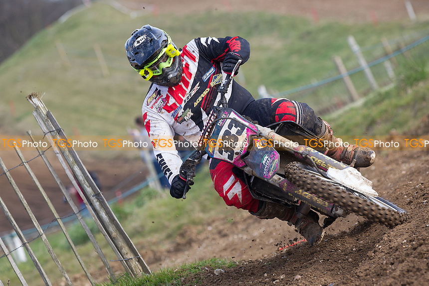 Sean Bond in action during the ACU Eastern Centre MX Championships Round One at Wakes Colne MX Circuit on 3rd April 2016