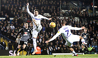 Leeds United's Kemar Roofe with a spectacular close range effort during the first half<br /> <br /> Photographer Rich Linley/CameraSport<br /> <br /> The EFL Sky Bet Championship - Leeds United v Reading - Tuesday 27th November 2018 - Elland Road - Leeds<br /> <br /> World Copyright &copy; 2018 CameraSport. All rights reserved. 43 Linden Ave. Countesthorpe. Leicester. England. LE8 5PG - Tel: +44 (0) 116 277 4147 - admin@camerasport.com - www.camerasport.com