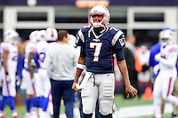 Sunday, October 2, 2016: New England Patriots quarterback Jacoby Brissett (7) prepares for the NFL game between the Buffalo Bills and the New England Patriots held at Gillette Stadium in Foxborough Massachusetts. Buffalo defeats New England 16-0. Eric Canha/Cal Sport Media