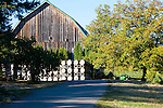 Brick House Vineyard and winery near Newberg, Oregon produces a variety of orgainc wines. The winery in an old barn.