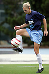 09 October 2005: North Carolina's Lindsey Tarpley. The Duke Blue Devils defeated the #1 ranked Carolina Tar Heels 2-1 at Fetzer Field in Chapel Hill, North Carolina in a regular season Atlantic Coast Conference women's soccer game.