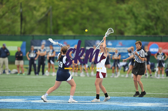 Salisbury advances to the Championship game in the NCAA Women's Lacrosse tournament by defeating Middlebury 8-7 in the semifinal game Saturday morning at Mustang Stadium in Owings Mills.