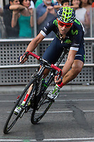 Spanish cyclist Alejandro Valverde of Movistar team during the last stage or La Vuelta of Spain in Madrid. September 10, 2016. (ALTERPHOTOS/Rodrigo Jimenez) NORTEPHOTO.COM
