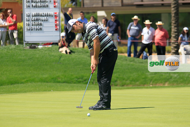 Francesco Molinari (ITA) putts on the 16th green during Sunday's Final Round of the Open de Espana at Real Club de Golf de Sevilla, Seville, Spain, 6th May 2012 (Photo Eoin Clarke/www.golffile.ie)