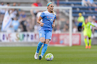 Bridgeview, IL - Saturday June 18, 2016: Julie Johnston during a regular season National Women's Soccer League (NWSL) match between the Chicago Red Stars and the Boston Breakers at Toyota Park.