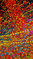 Lots of multi coloured bouncing beads