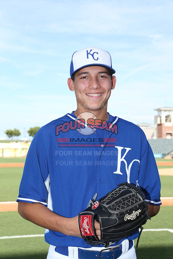Garrett Davila (17) of the AZL Royals poses for a photo before a game against the AZL Mariners at Surprise Stadium on July 4, 2015 in Surprise, Arizona. Mariners defeated Royals, 7-4. (Larry Goren/Four Seam Images)