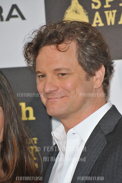 Colin Firth at the 25th Anniversary Film Independent Spirit Awards at the L.A. Live Event Deck in downtown Los Angeles..March 5, 2010  Los Angeles, CA.Picture: Paul Smith / Featureflash