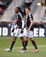 Sebastien Le Toux, Keon Daniel.  Sporting Kansas City defeated Philadelphia Union, 3-1. at PPL Park in Chester, PA.