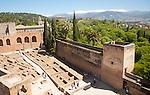Inside the Alcazaba fortress in the Alhambra, Granada, Spain
