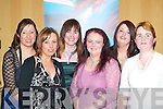 HAPPY: Enjoying the Munster Joinery Social in the Killarney Avenue Hotel on Friday night were L/R: Noreen Muprhy, Noelle Foley, Margaret Ryan, Tina Ankettel, Eileen Houlihan and Margaret Linehan..