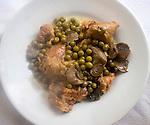 Chicken, Peas, Mushrooms, Pan Da Tonino Restaurant, Rome, Italy