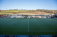 General view of the pitch ahead of the Sky Bet League 2 match between Wycombe Wanderers and Newport County at Adams Park, High Wycombe, England on 2 January 2017. Photo by Andy Rowland.
