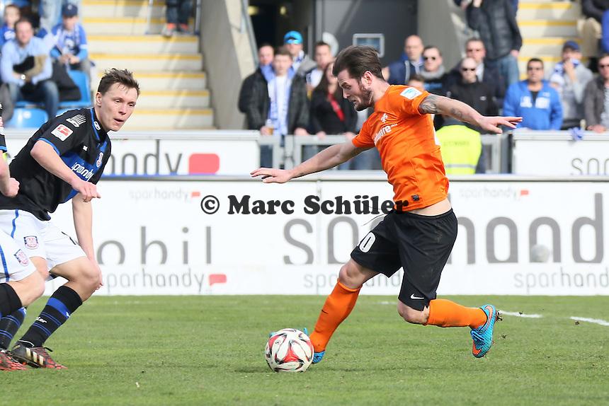 Marcel Heller (Sv98) greift an - FSV Frankfurt vs. SV Darmstadt 98, Frankfurter Volksbank Stadion