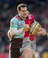 Harlequins' Tim Visser in action during todays match<br /> <br /> Photographer Bob Bradford/CameraSport<br /> <br /> Aviva Premiership Round 14 - Harlequins v Wasps - Sunday 11th February 2018 - Twickenham Stoop - London<br /> <br /> World Copyright &copy; 2018 CameraSport. All rights reserved. 43 Linden Ave. Countesthorpe. Leicester. England. LE8 5PG - Tel: +44 (0) 116 277 4147 - admin@camerasport.com - www.camerasport.com