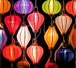 Lantern Stall 04 - Night stall selling silk lanterns, An Hoi Island, Hoi An Viet