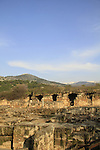 Golan Heights, ruins of the palace of Agrippa II in Banias