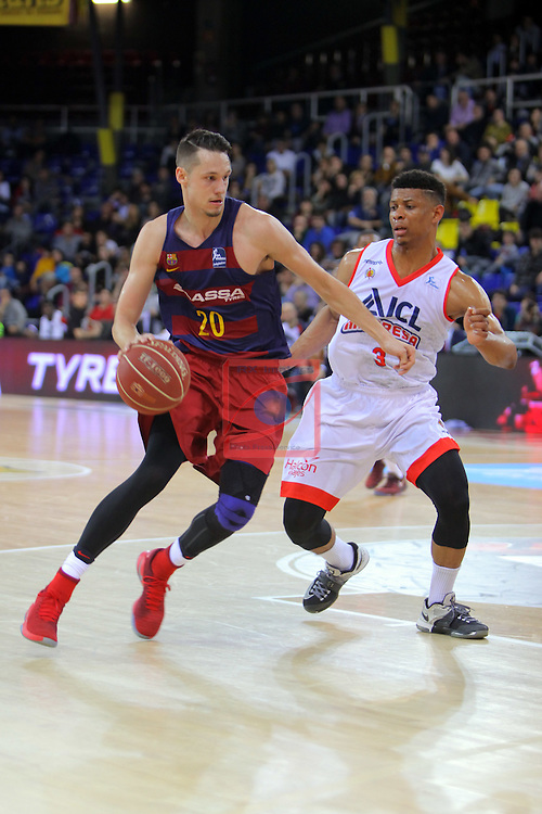 League ACB-ENDESA 2016/2017 - Game: 21.<br /> FC Barcelona Lassa vs ICL Manresa: 92-72.<br /> Markus Eriksson vs Michael Machado.