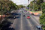 Buenos Aires, Argentina - a 6 lane street near recoletas in Buenos Aires