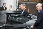 © Joel Goodman - 07973 332324 . 05/03/2017 . London , UK . Chancellor PHILIP HAMMOND leaves ITV studios on South Bank after appearing on the Peston on Sunday show . Photo credit : Joel Goodman