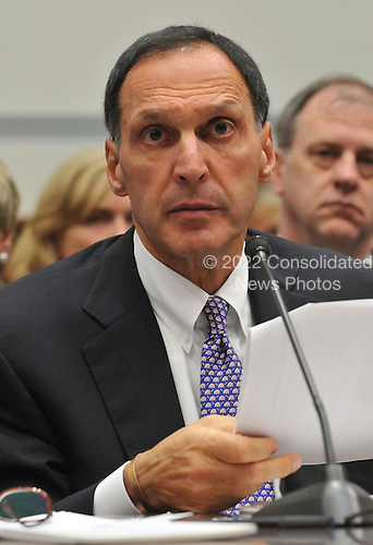 "Washington, D.C. - October 6, 2008 -- Richard S. Fuld, Jr., Chairman and Chief Executive Officer, Lehman Brothers Holdings, testifies before the United States House Committee on Oversight and Government Reform hearing on ""The Causes and Effects of the Lehman Brothers Bankruptcy"" in the Rayburn House Office Building on Monday, October 6, 2008..Credit: Ron Sachs / CNP.(RESTRICTION: NO New York or New Jersey Newspapers or newspapers within a 75 mile radius of New York City)"