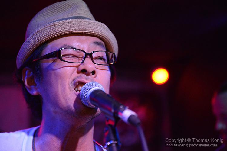 Kaohsiung, Taiwan -- LITTLE MASTA from Okinawa, Japan, performing at the Paramount Bar on July 06, 2014.