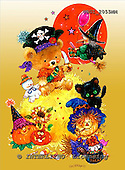GIORDANO, CUTE ANIMALS, LUSTIGE TIERE, ANIMALITOS DIVERTIDOS, Halloween, paintings+++++,USGI2055MM,#AC#