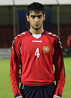 Aram Shakhnazaryan in the Armenia v Switzerland UEFA European Under-19 Championship Qualifying Round match at New Douglas Park, Hamilton on 11.10.12.