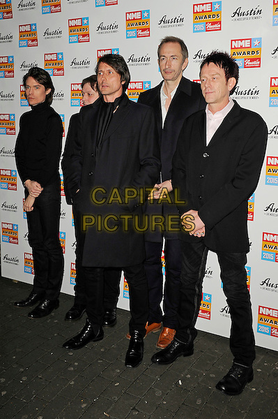 LONDON, ENGLAND - FEBRUARY 18: Suede attending the NME Awards at Brixton Academy on February 18 2015 in London, England.<br /> CAP/MAR<br /> &copy; Martin Harris/Capital Pictures