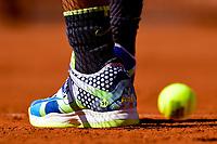 Chaussure de Rafael Nadal (Esp)<br /> Parigi 31/05/2019 Roland Garros <br /> Tennis Grande Slam 2019 <br /> Foto JB Autissier Panoramic / Insidefoto <br /> ITALY ONLY<br /> Parigi 31/05/2019 Roland Garros <br /> Tennis Grande Slam 2019 <br /> Foto JB Autissier Panoramic / Insidefoto <br /> ITALY ONLY