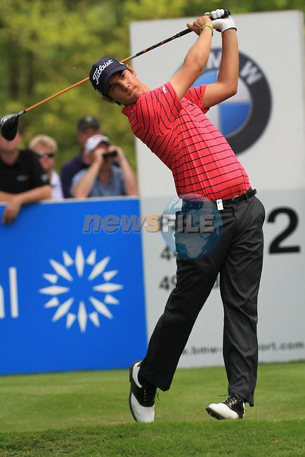 Matteo Manassero teeing from the 12th.during round two of the BMW PGA championship 2010 at Wentworth golf club, Surrey England..Picture Fran Caffrey/Newsfile.ie