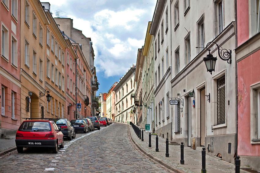 Ulica Bednarska w Warszawie, Polska<br /> Bednarska Street in Warsaw, Poland