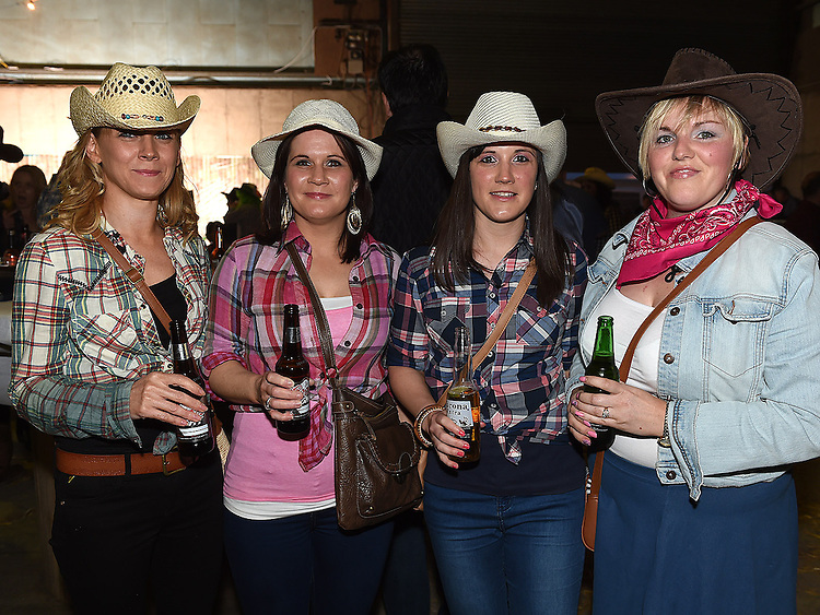 Fiona, Sandra, Edel and Joleene Mathews pictured at the barn dance at Oberstown farm. Photo:Colin Bell/pressphotos.ie