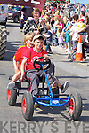 Christopher Murphy and his passenger Luke Linnane driving their go-cart in the Ballyheigue Summer Festival Summer Parade on Sunday.......................
