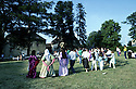 France 1990 <br /> Dance at a Kurdish wedding in Mainsat, village of Creuse  <br /> France 1990 <br /> Danse a un mariage kurde  a Mainsat, village de la Creuse