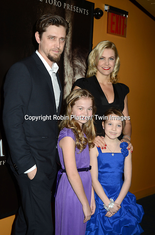 "Andy Muschietti, writer Barbara Muschietti, Megan Charpentier and Isabelle Nelisse attends the ""Mama"" special  screening at the Landmark's Sunshine Cinema on January 7, 2013 in New York City. .The movie stars Jessica Chastain, Nikolaj Coster-Waldau, Megan Charpentier and Isabelle Nelisse."
