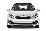 Car photography straight front view of a 2016 KIA Ceed_SW 5 Door Wagon Front View