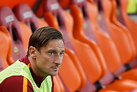 Calcio, Serie A: Roma vs Juventus. Roma, stadio Olimpico, 14 maggio 2017. <br /> Roma's Francesco Totti sits on the bench for the Italian Serie A football match between Roma and Juventus at Rome's Olympic stadium, 14 May 2017. Roma won 3-1.<br /> UPDATE IMAGES PRESS/Riccardo De Luca