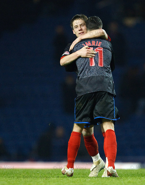 Ian Black celebrates with Dougie Imrie