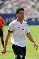 Brian Ching (11) of the United States (USA). Mexico (MEX) defeated the United States (USA) 5-0 during the finals of the CONCACAF Gold Cup at Giants Stadium in East Rutherford, NJ, on July 26, 2009.